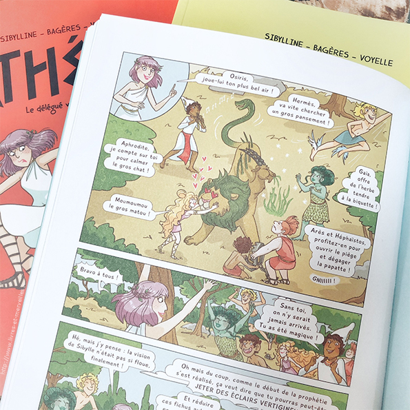 Bd jeunesse : Athéna - Un approche de la mythologie pleine d'humour !