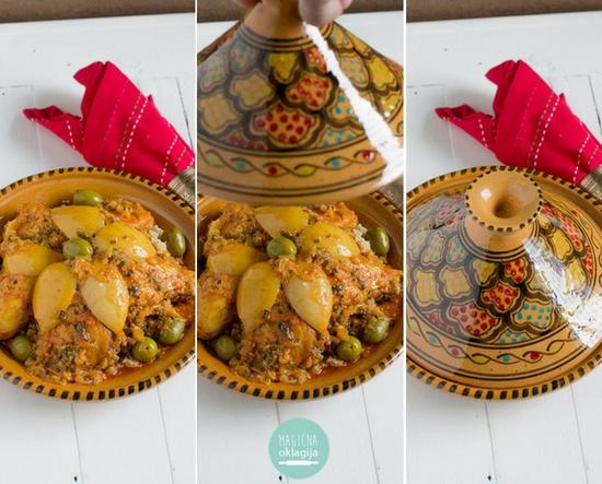 Marokanski tažin sa piletinom i usoljenim limunom