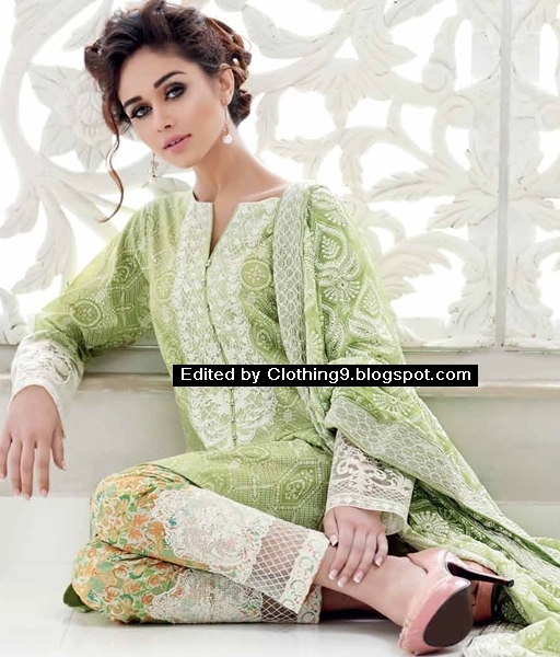 Gul ahmed lawn magazine catalog collection 2016 2017 clothing9