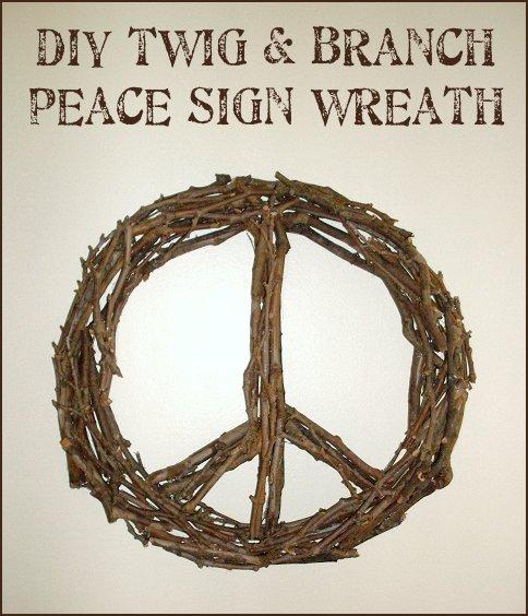 Dishfunctional Designs DIY Twig Tree Branch Peace Sign