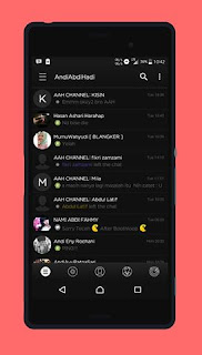 BBM Black New Style v3.2.2.8 APK Terbaru Update 2017
