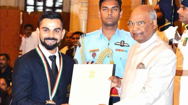 Virat Kohli Received the Rajiv Gandhi Khel: Full List Khel Ratna Winners