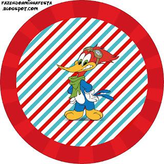 Pájaro Loco: Wrappers y Topppers para Cupcakes para Imprimir Gratis.