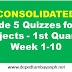 Consolidated Grade 5 Quizzes for all Subjects 1st Quarter, Week 1-10