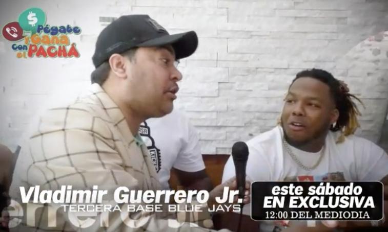 """Vladimir Guerrero Jr. en """"Pégate y Gana con El Pachá"""""""