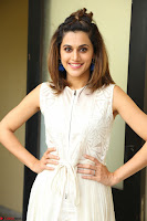 Taapsee Pannu in cream Sleeveless Kurti and Leggings at interview about Anando hma ~  Exclusive Celebrities Galleries 053.JPG
