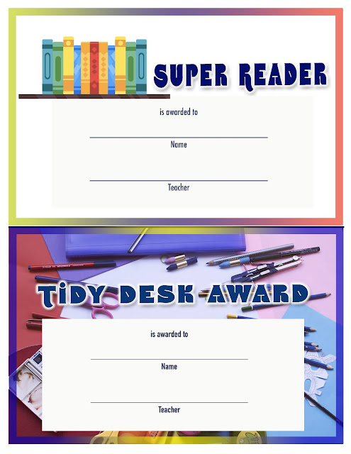 Printable Awards and Certificates