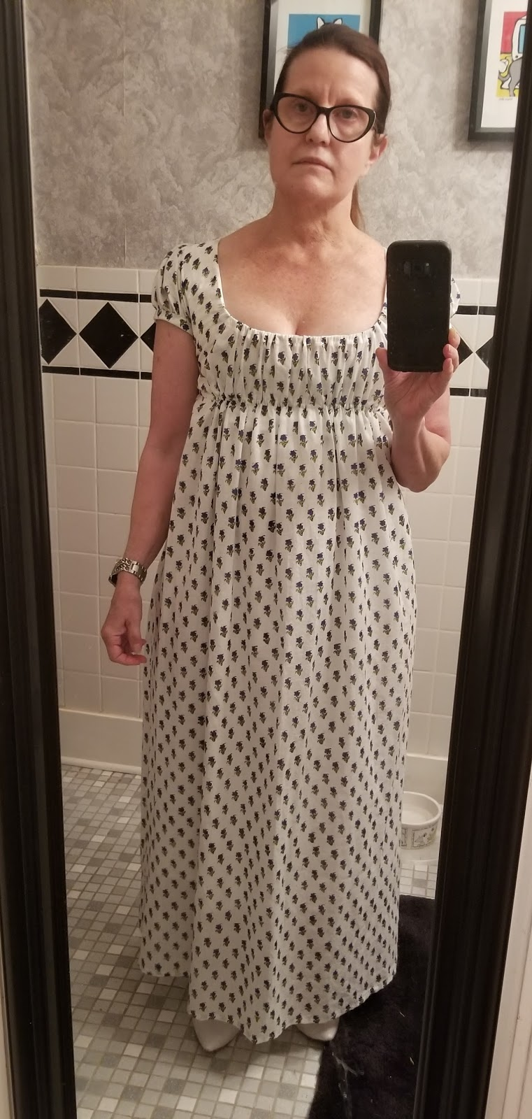Crazy Cat Lady\'s Musings: Drawstring Block Print Regency Gown and ...