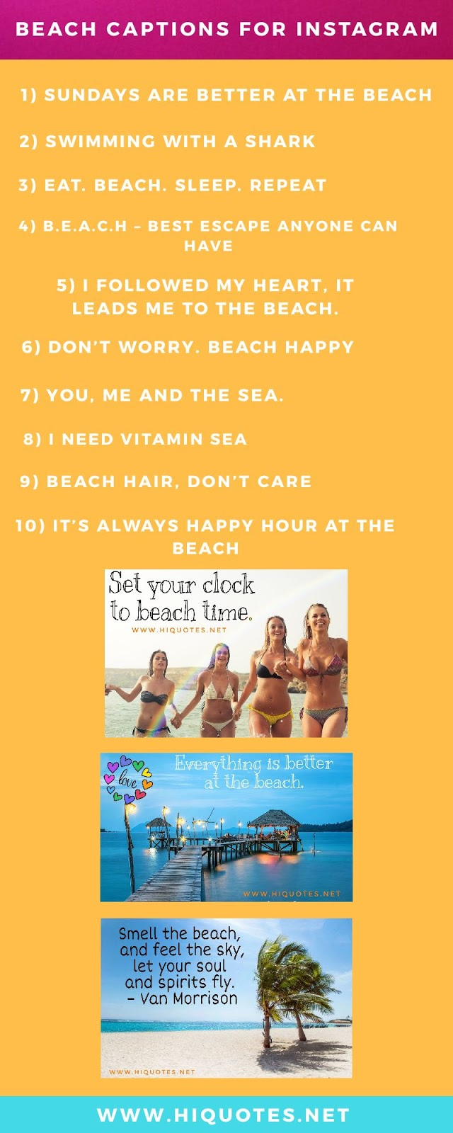 Beach Captions infographic