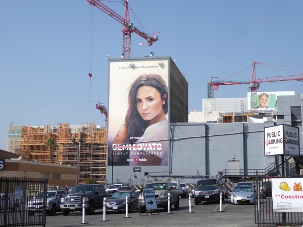 Demi Lovato Simply Complicated wall mural ad