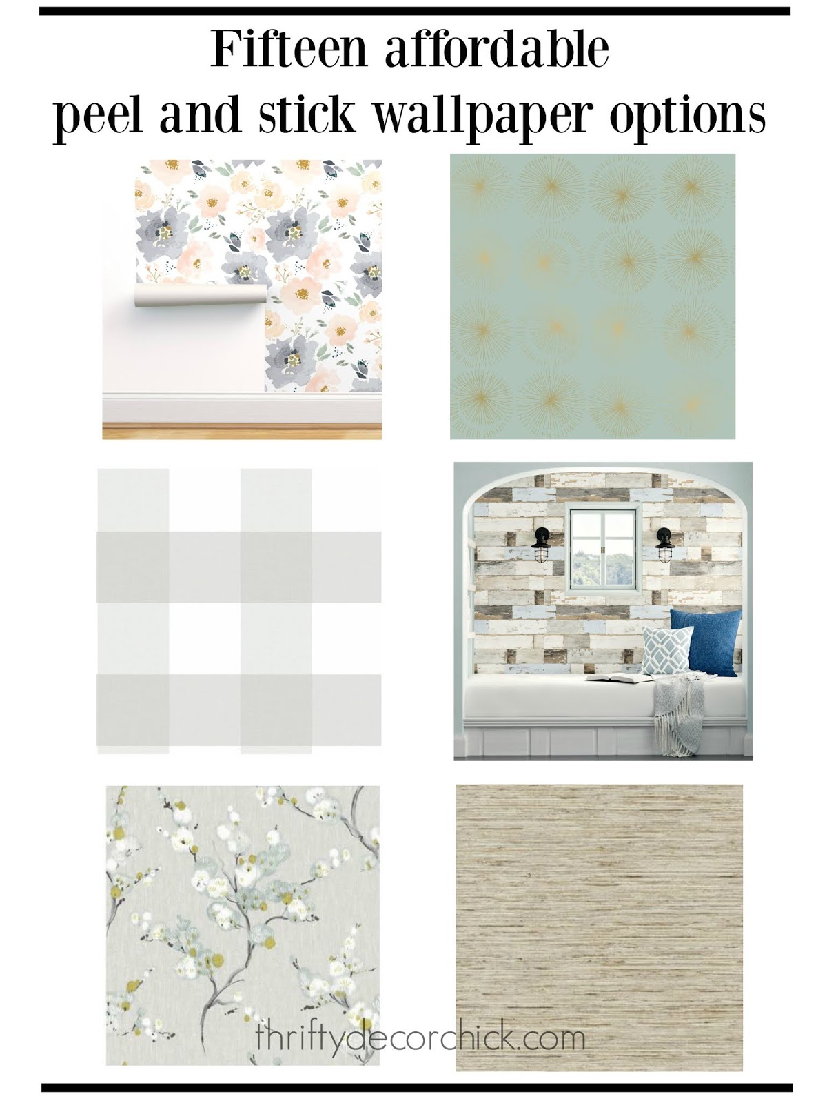 Fifteen affordable peel and stick wallpaper options