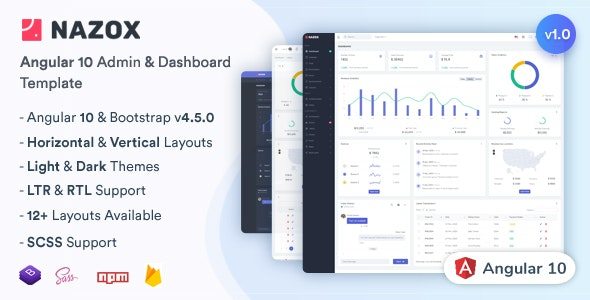 Nazox - Angular 10 Admin & Dashboard Template