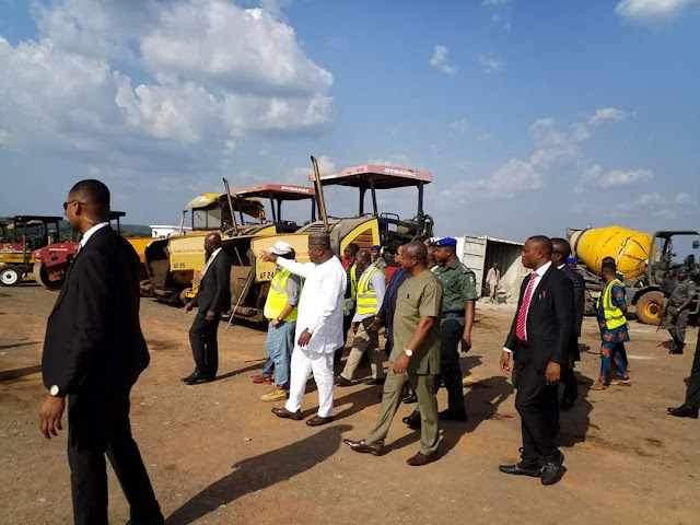 Enugu Governor Ugwuanyi Inspects Ongoing Rehabilitation Of Akanu Ibiam Airport (Photos)