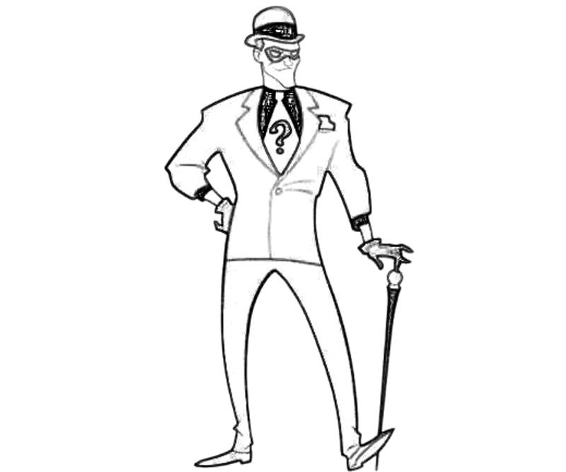 batman riddler coloring pages - photo#1