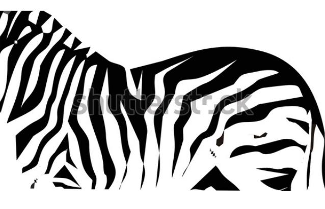 black and white illustration motif