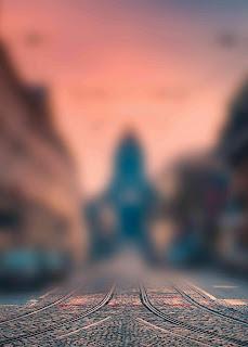Orange Tone Blur Background Free Stock Photo