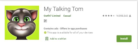 my talking tom app