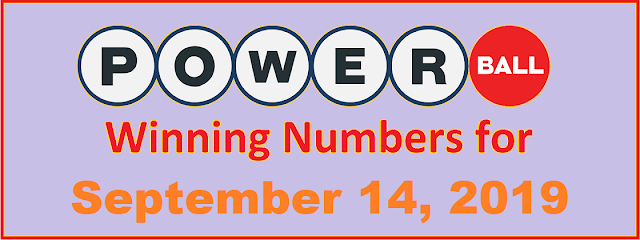 PowerBall Winning Numbers for Saturday, September 14, 2019