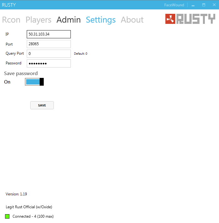 How to add admin rust server