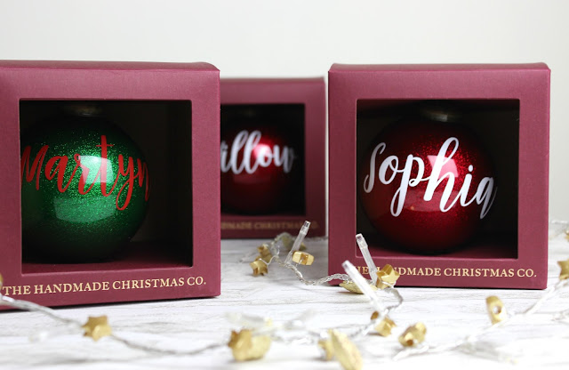 A review of The Handmade Christmas Co Personalised Glitter Bauble