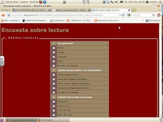 http://recursostic.educacion.es/humanidades/ciceros/web/dialogo/encuesta_sobre_lectura.htm