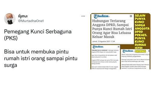 Serang PKS, Netizen: Pemegang Kunci Surga dan Rumah Istri Orang