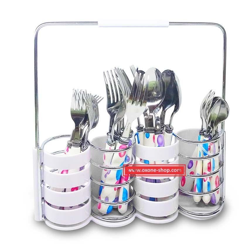OX-9300 24Pcs Buble Cutlery Set Oxone - Sendok & Garpu