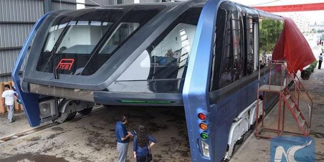 Cina Lakukan Tes Perdana Mega Bus miliknya