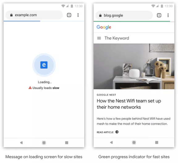 Google will feature slow sites with a special icon on the Chrome browser