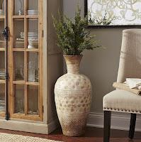 Greek geometric design floor vase