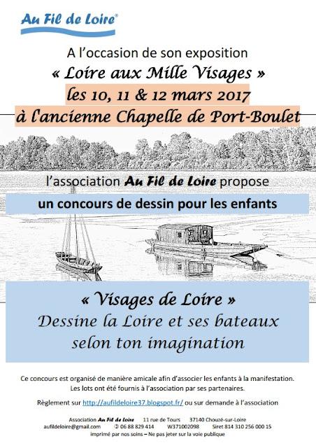 Dessine la Loire et ses bateaux