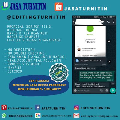 Jasa Cek Turnitin Online Gratis Di Nusa Tenggara Timur