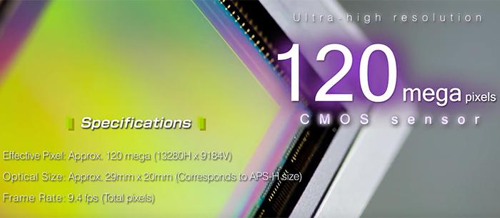 Основные характеристики сенсора Canon 120MXS