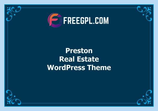 Preston – Real Estate WordPress Theme Free Download