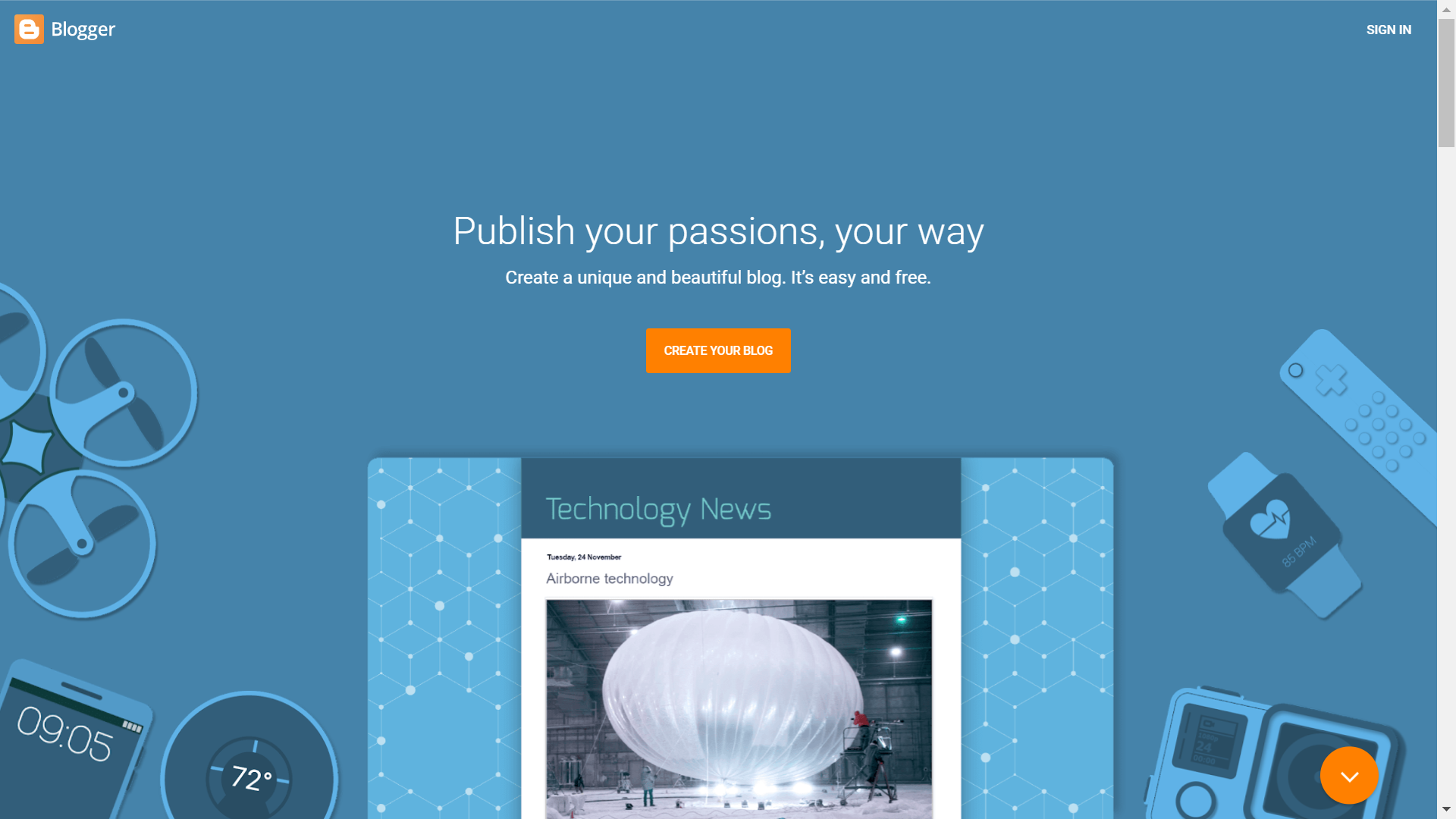 best free theme for blogger