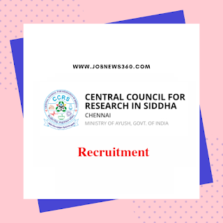 CCRS Chennai Walk-IN for Research Associate & Consultant on 3rd June 2019