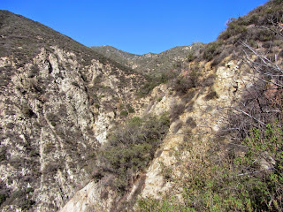View north from Bailey Canyon Trail toward Hastings Peak, left, Angeles National Forest