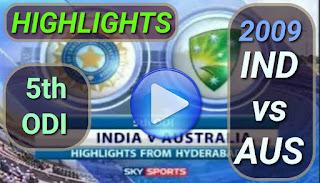 Sachin Tendulkar 175 - Ind vs aus 5th ODI 2009