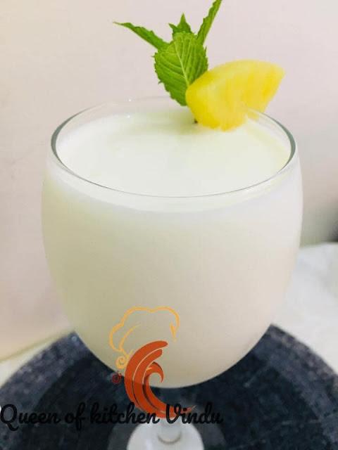 අන්නාසී - පයිනැපල් ජූස් හදමු (Pineapple & Condensed Milk Pina Colada) - Your Choice Way