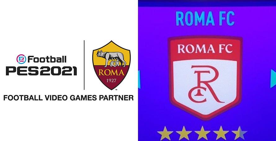 As Roma Pes 2021 Deal Announced Roma Fc Fifa 21 Logo Footy Headlines