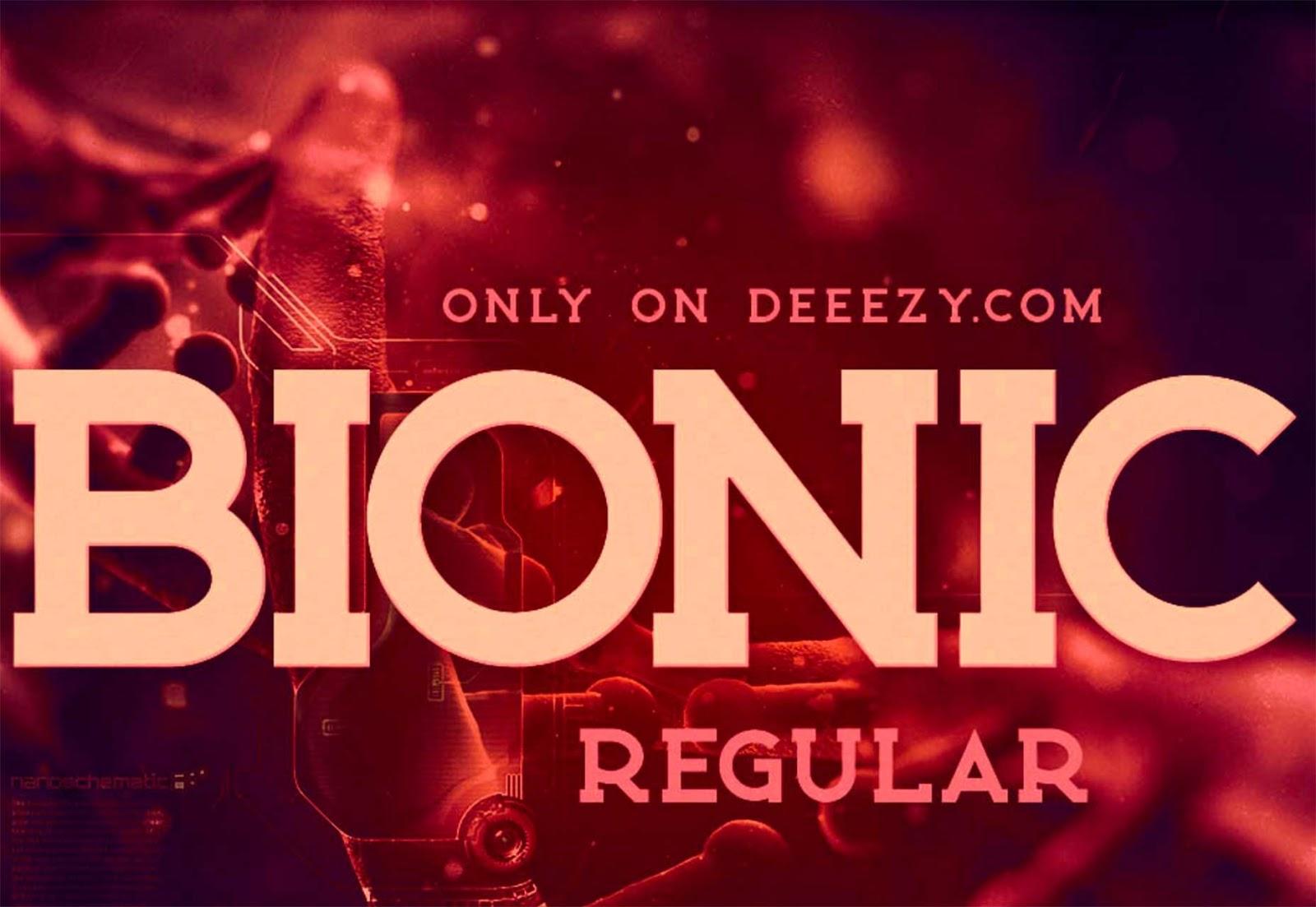 Font Edisi September - Bionic Font Free