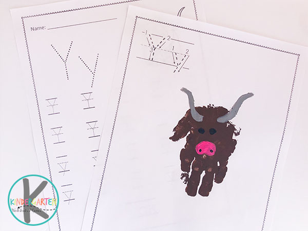 letter y yak craft,free printable y worksheets