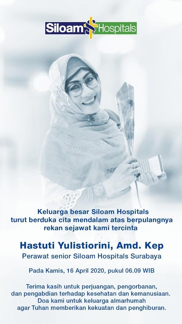 Innalillahi, Seorang Perawat Pasien Corona di Surabaya Meninggal Dunia