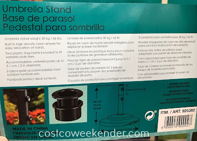 Umbrella Stand: great for the backyard or patio