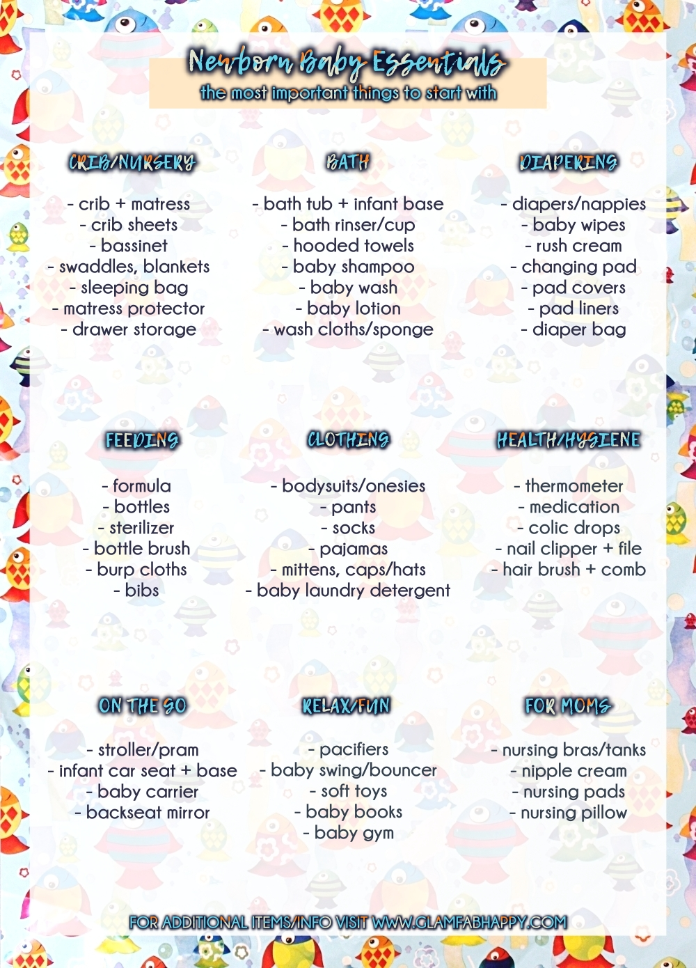 newborn baby essentials checklist, minimalistic baby essentials list