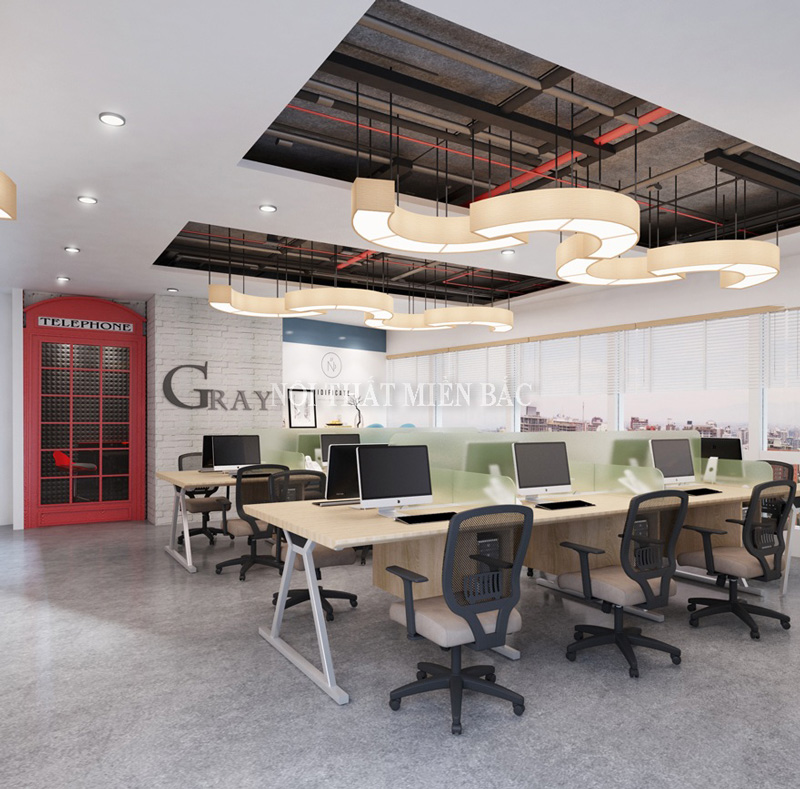 Thiết kế nội thất phòng làm việc sử dụng thảm trải sàn