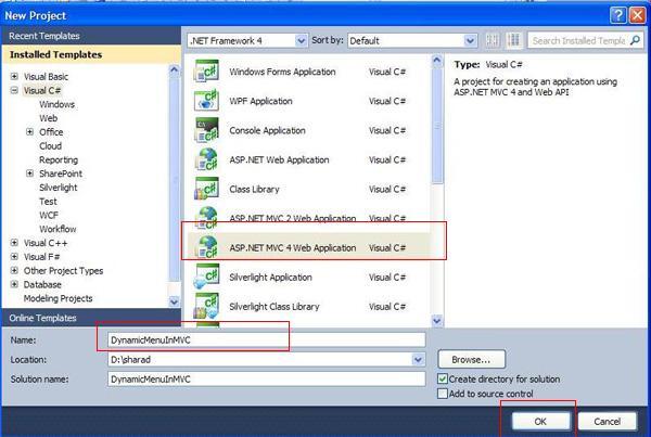 Learn C# ASP NET MVC WCF SQL Angular: Create Dynamic Menu in