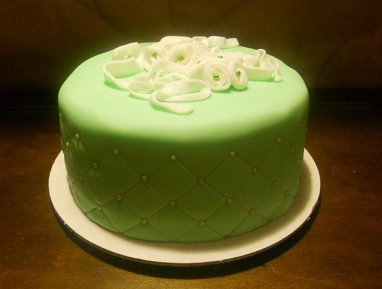 Torta Effetto Trapunta Tutorial.Profumo Di Zucchero Sweets By Sonia Torta Trapuntata Verde E Bianca