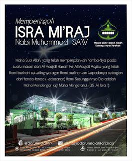 Selamat Memperingati Isra Miraj Nabi Muhammad SAW by Masjid Darun Najah Tarakan - Kajian Islam Tarakan