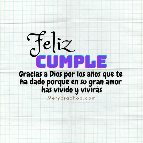frases gracias a Dios por tu cumpleaños